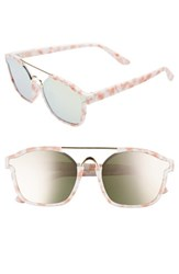 Leith Women's Eve Bank 57Mm Mirrored Sunglasses Pink