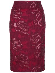 Fenn Wright Manson Petite Volcano Skirt Red
