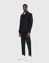 Stone Island Panno R 4L Stretch Peacoat In Navy Blue