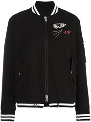 Ermanno Scervino Embellished Bomber Jacket Black