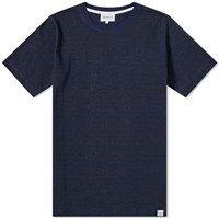 Norse Projects Niels Classic Stripe Tee Blue