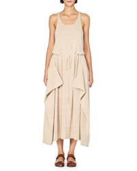 Stella Mccartney Sleeveless Knit Drawstring Midi Dress Light Pink