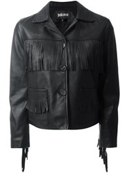 Just Cavalli Fringed Jacket Black