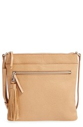 Halogenr Halogen Tasseled Leather Crossbody Bag Brown Tan