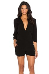 Monrow Zip Up Romper Black