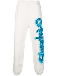 Adaptation Graffiti Logo Track Trousers White