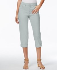 Styleandco. Style And Co. Tummy Control Cuffed Capri Jeans City Silver