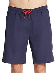 Saks Fifth Avenue Solid Swim Shorts Navy