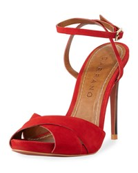 Carrano Bia Nubuck Dress Sandal Red