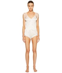 Else Silk Lace Romper Ivory Women's Jumpsuit And Rompers One Piece White