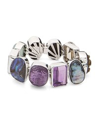 Stephen Dweck One Of A Kind Mixed Cut Multicolor Stone Bracelet