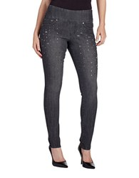 Jag Nora Charmed Skinny Pull On Jeans Grey