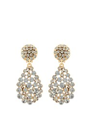 Oscar De La Renta Teardrop Crystal Embellished Earrings Black