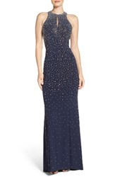 Xscape Evenings Women's Beaded Open Back Gown