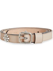 Burberry Crystal Daisy Leather Belt Nude And Neutrals