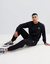 Converse Star Chevron Sweatpants With Embroidered Logo In Black