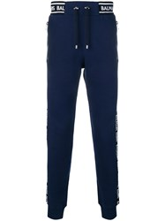 Balmain Logo Band Track Trousers Blue