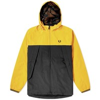Fred Perry Authentic Colour Blocked Panelled Jacket Yellow