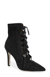 Women's Cynthia Vincent 'Harp' Lace Up Bootie Black Suede