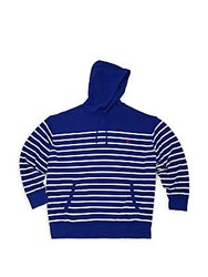 Polo Ralph Lauren Big And Tall Striped Long Sleeve Hoodie Blue