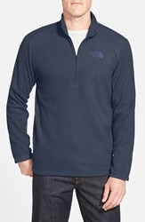 The North Face Men's 'Tka 100 Glacier' Quarter Zip Fleece Pullover Urban Navy