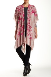 Leigh And Luca Bloom Eyelash Trim Shawl Pink