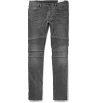 Belstaff Eastham Slim Fit Washed Stretch Denim Jeans Charcoal