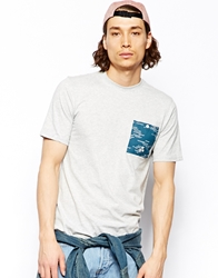 Altamont Wavy T Shirt With Pocket Grey