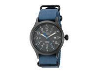 Timex Expedition Scout Nylon Slip Thru Strap Blue Black Watches