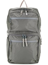 As2ov 210D Nylon Twill Square Backpack Grey