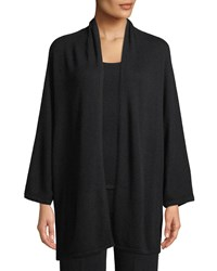 Neiman Marcus Cashmere Dolman Sleeve Open Front Cardigan Black