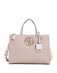 Guess G Lux Quilted Satchel Shell