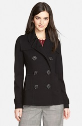 Bailey 44 Double Breasted Peacoat Nordstrom Exclusive Black