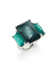 Ippolita Rock Candy Wonderland Kelly Semi Precious Multi Stone And Sterling Silver Three Stone Ring Silver Turquoise