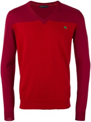 Etro Tonal V Neck Jumper Red