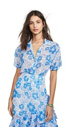 All Things Mochi Nora Shirt Blue Floral