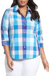 Foxcroft Plus Size Women's Check Plaid Shirt