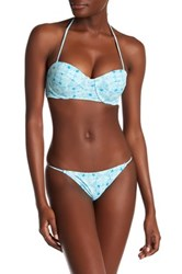 Volcom Printed Underwire Bandeau Top Blue