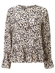 Marella Viano Printed Silk Blouse Natural