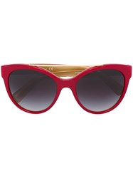 Dolce And Gabbana Cat Eye Sunglasses Red