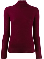 Joseph Knit Turtleneck Top Red