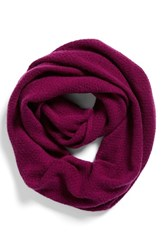 Women's Halogen Pointelle Knit Wool And Cashmere Infinity Scarf Purple Purple Dark