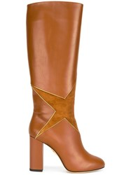 Charlotte Olympia Star Patch Boots Brown