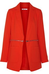Alexander Wang Convertible Crepe Blazer Red