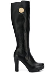 Emporio Armani Chunky High Heeled Boots Brown
