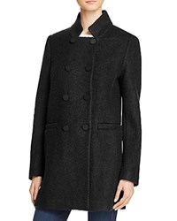 T Tahari Harper Double Breasted Front Coat Black