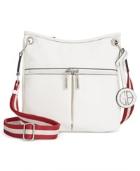 Giani Bernini Pebble Leather Crossbody Only At Macy's White