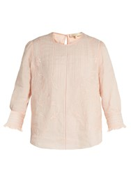 Vanessa Bruno Gwenael Linen And Cotton Blend Blouse Light Pink