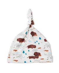 Angel Dear Bison Print Knotted Baby Hat Multi