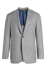 Hickey Freeman 'S Big And Tall Beacon Classic Fit Check Wool Sport Coat Light Grey